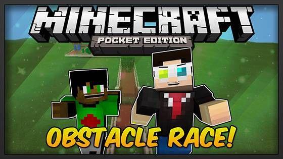 Карта Obstacle Race для Minecraft Pocket Edition 0.9.5 является многопользовательской. На карте Вам придется пройти сквозь огонь, воду и медные трубы. Шутка. Вам нужно будет преодолевать разнообразные преграды.