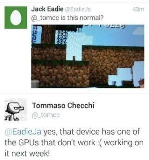 Баги Minecraft 0.10.0 Build 1 — Реакция разработчиков