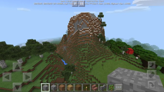 Также рядом можно найти небольшую гору. Можно строиться прямо на ней -)