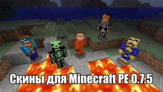 Подборка скинов для Minecraft Pocket Edition (PE) 0.8.1