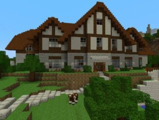 Карта на выживание Big House Minecraft PE 0.9.0