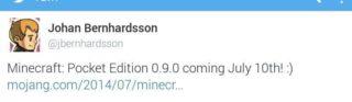 полная версия Minecraft Pocket Edition 0.9.0 выйдет 10 июля