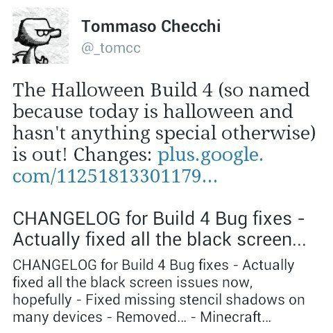 BUILD 4 - Вышел 31.10.2014 Хеллоуин билд (он так называется потому что сегодня Хеллоуин и не имеет никаких специальных, внутренних изменений)