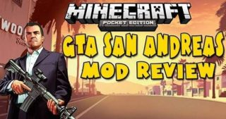 Мод «GTA San Andreas» для Minecraft 0.9.5