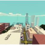 Великолепная городская карта для Майнкрафт ПЕ 0.9.5. Карта только начала создаваться, и уже состоит из по меньшей мере 42 зданий. Причем, выполненные безукоризненно.