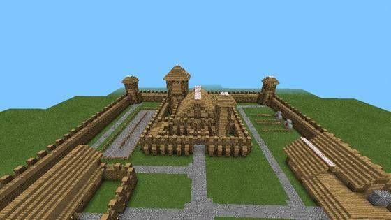Карта «Средневековый замок» для MCPE