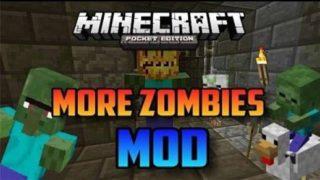 мод More Zombies (для MCPE 0.9.5)