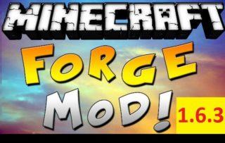 Minecraft Forge для версии 1.6.3