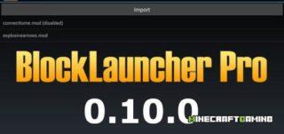 BlockLauncher PRO ver 1.8 — Minecraft PE 0.10.0