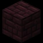 Блок адского кирпича в Майнкрафте.