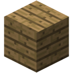 Двойная дубовая плита в Майнкрафте.