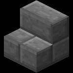 Ступеньки из каменного кирпича в Майнкрафте.