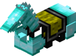 Алмазная конская броня в Майнкрафте.