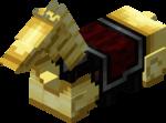 Золотая конская броня в Майнкрафте.