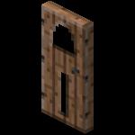 Блок двери из тропического дерева