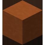Оранжевая обожжённая глина в Майнкрафте.