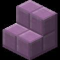 Пурпурные ступеньки в Майнкрафте.