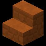 Ступеньки из красного песчаника в Майнкрафте.