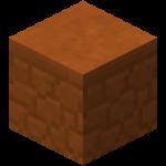 Двойная плита из красного песчаника в Майнкрафте.