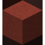 Красная обожжённая глина в Майнкрафте.