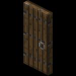 Еловая дверь в Майнкрафте.