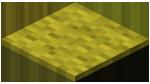 Жёлтый ковёр в Майнкрафте.