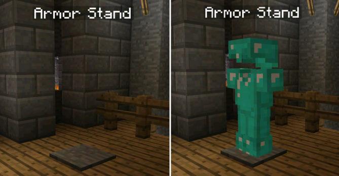 Мод Armor Stand добавить стойки для брони в карманный майнкрафт как в ПК версии