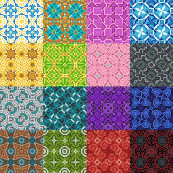 Варианты получаемых из плитки узоров в новой версии майнкрафта пе - 1.1.0