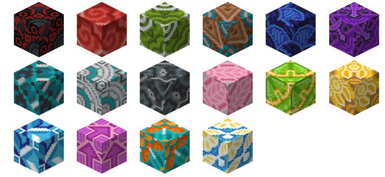 В майнкрафт пе 1.1.0 добавили разноцветные декоративные плитки
