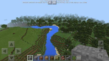 Река между лесом и равниной
